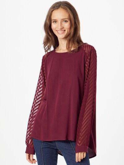 OBJECT Bluse 'ZOE' in weinrot, Modelansicht