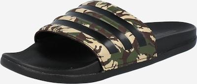 ADIDAS PERFORMANCE Zapatos para playa y agua 'Adilette' en beige / verde / negro, Vista del producto