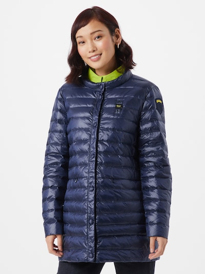 Blauer.USA Between-seasons coat in navy, View model