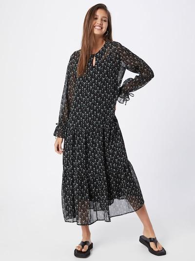 BRUUNS BAZAAR Kleid 'Vervain Mischa' in smaragd / schwarz / weiß, Modelansicht