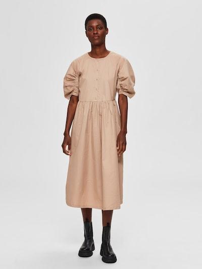 SELECTED FEMME Midikleid in beige, Modelansicht