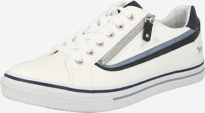 MUSTANG Čevlji na vezalke | mornarska / golobje modra / bela barva, Prikaz izdelka