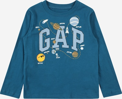 GAP T-shirt i opal / brun / violettblå / vit, Produktvy