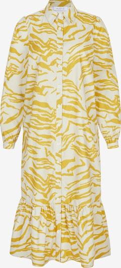 Aligne Kleid 'Cecilie' in goldgelb / naturweiß, Produktansicht