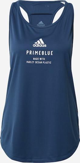 ADIDAS PERFORMANCE Haut de sport 'Run for the Oceans' en bleu foncé / blanc, Vue avec produit
