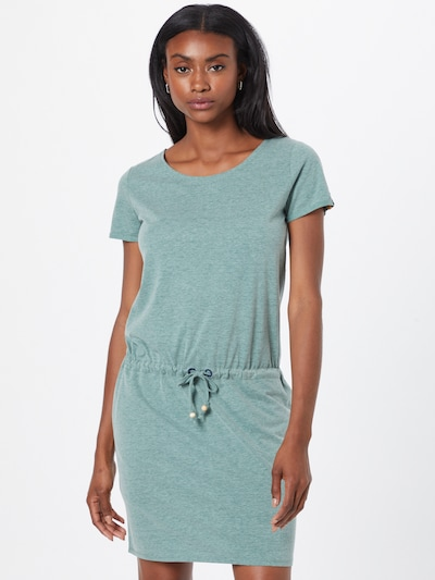 Fli Papigu Лятна рокла 'Let's make Sucuk great again' в зелен меланж: Изглед отпред