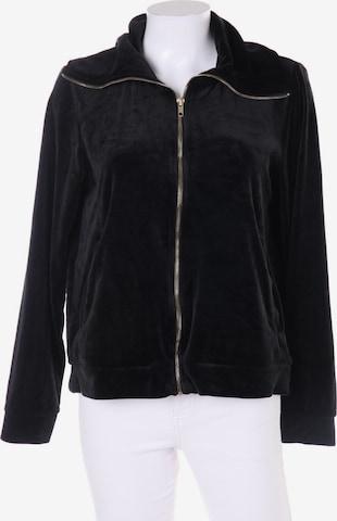 Lindex Sweatshirt & Zip-Up Hoodie in L in Black