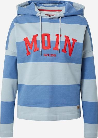 Derbe Sweatshirt in opal / himmelblau / rot, Produktansicht