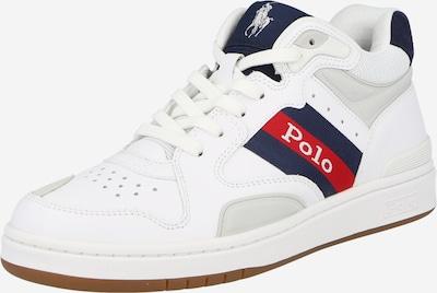 POLO RALPH LAUREN Baskets hautes en bleu marine / gris clair / rouge / blanc, Vue avec produit