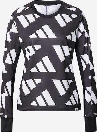 ADIDAS PERFORMANCE Sportsweatshirt in schwarz / weiß, Produktansicht