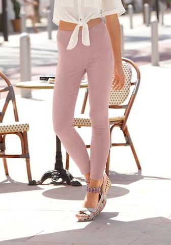 LASCANA - Jeggings en rosa