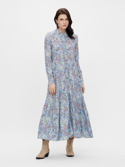 Y.A.S Sukienka koszulowa 'Santos' w kolorze jasnoniebieski / rdzawobrązowy / ciemnobrązowy / pastelowo-żółty / pastelowa czerwieńm, Podgląd na modelu(-ce)