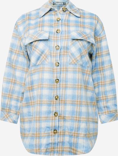 Bluză Missguided Plus pe crem / albastru deschis / portocaliu, Vizualizare produs