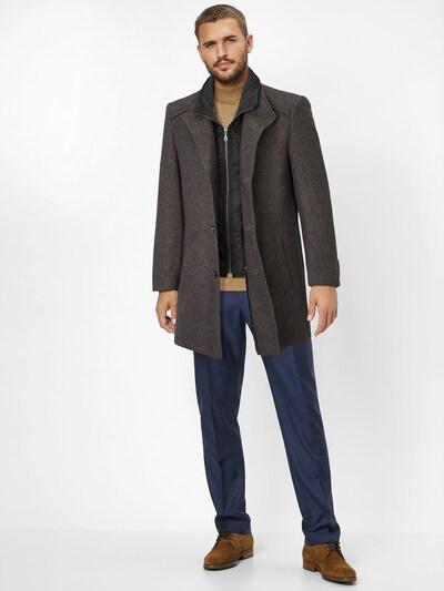 S4 Jackets Wollmantel in grau: Frontalansicht