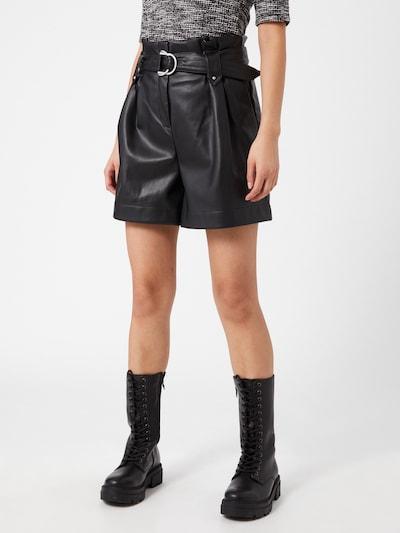 ONLY Bukser med lægfolder 'MAERYN' i sort, Modelvisning
