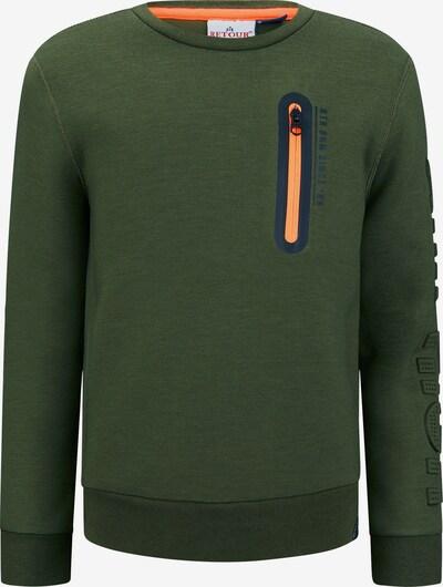 Retour Jeans Sportisks džemperis 'Sef', krāsa - naktszils / olīvzaļš / oranžs, Preces skats