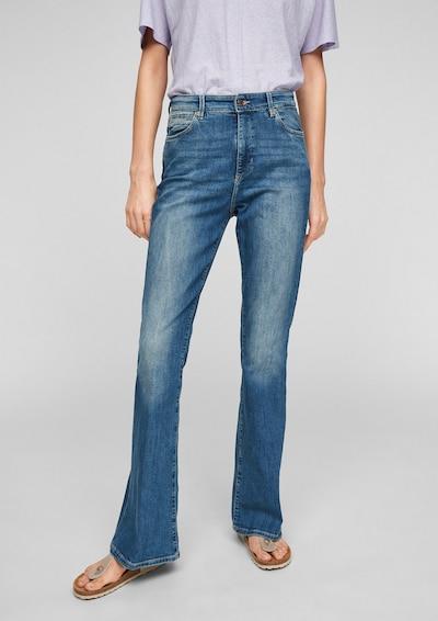 Q/S designed by Jeans 'Reena' in de kleur Blauw denim, Modelweergave