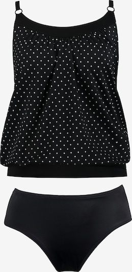 Ulla Popken Tankini in schwarz / weiß, Produktansicht