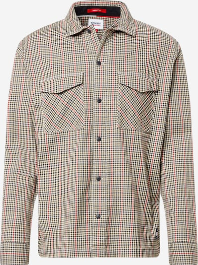 Tommy Jeans Button Up Shirt in Brown / Red / Black, Item view
