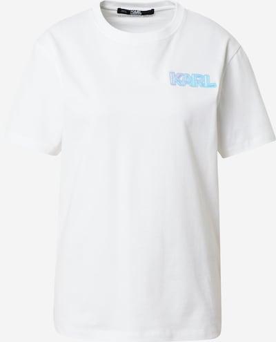 Karl Lagerfeld Camiseta en turquesa / blanco, Vista del producto