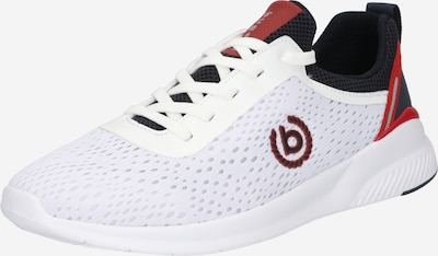 bugatti Sneaker in rot / schwarz / weiß, Produktansicht