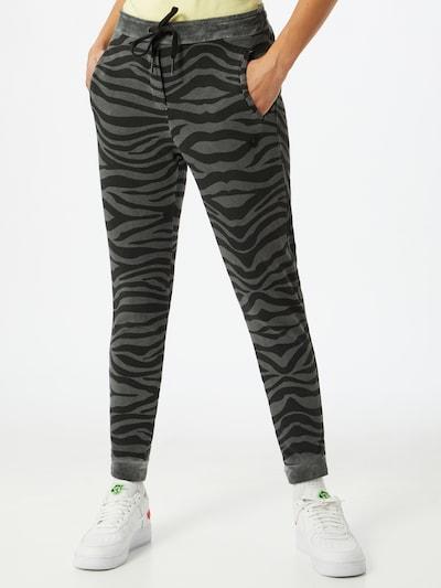 True Religion Hose 'Zebra' in grau / schwarz, Modelansicht