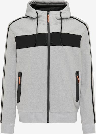 Giacca di felpa Mo SPORTS di colore grigio / nero, Visualizzazione prodotti