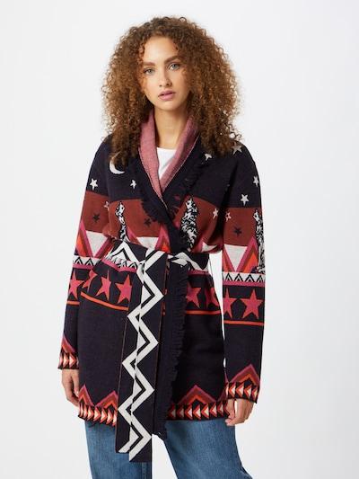 LIEBLINGSSTÜCK Manteau en tricot 'GittiL' en bleu nuit / mélange de couleurs, Vue avec modèle