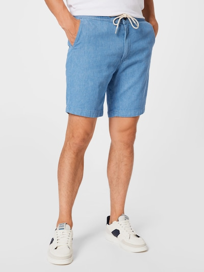 Lee Shorts in blue denim, Modelansicht