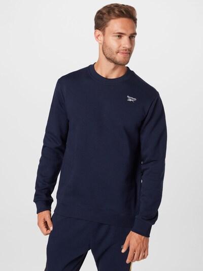 Reebok Classics Спортен блузон с качулка в нейви синьо / бяло: Изглед отпред