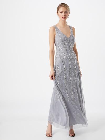 Hailey Logan Avondjurk in de kleur Zilvergrijs / Zilver, Modelweergave