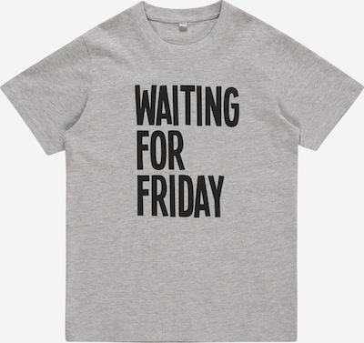 Mister Tee Shirt 'Waiting For Friday' in grau / schwarz, Produktansicht