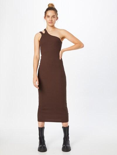 WEEKDAY Kleid in dunkelbraun, Modelansicht