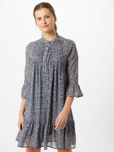 ICHI Kleid in blau, Modelansicht