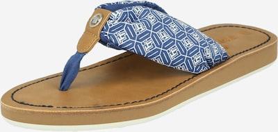 TOM TAILOR Teenslipper in de kleur Blauw / Wit, Productweergave