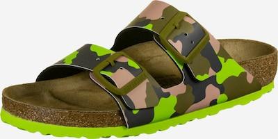 BIRKENSTOCK Sandale 'Arizona' in khaki / apfel / rosa / schwarz, Produktansicht