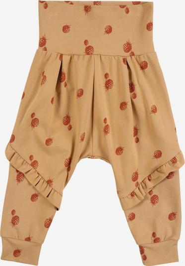 Pantaloni 'Berry' Müsli by GREEN COTTON pe nisip / roșu ruginiu, Vizualizare produs