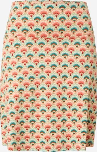 King Louie Jupe 'Carmel' en turquoise / rouge / blanc, Vue avec produit