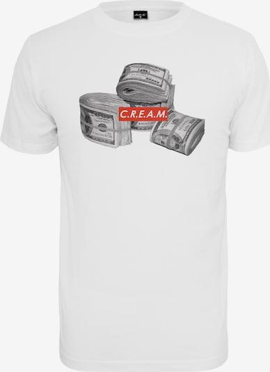 Mister Tee Shirt 'C.R.E.A.M' in de kleur Grijs / Rood / Wit, Productweergave