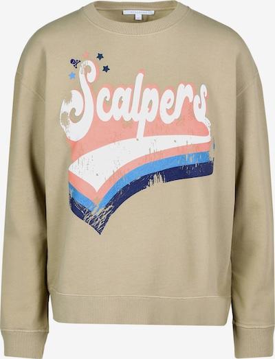 Scalpers Sweatshirt in sand / blau / weiß, Produktansicht