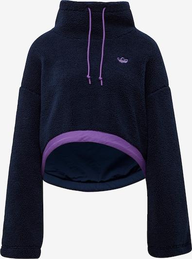 ADIDAS ORIGINALS Cropped Fleece Sweatshirt in blau: Frontalansicht