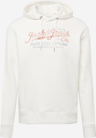 JACK & JONES Sweatshirt 'BOOSTER' in White