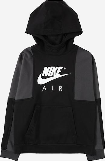 Bluză de molton Nike Sportswear pe gri amestecat / negru / alb, Vizualizare produs
