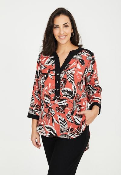 SPGWOMAN Blouse in de kleur Rood / Zwart / Wit, Modelweergave