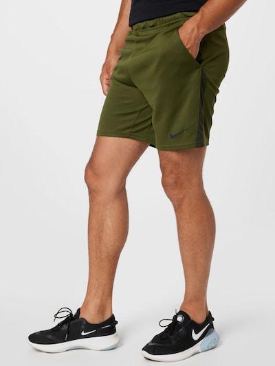 NIKE Športové nohavice - tmavosivá / tmavozelená, Model/-ka