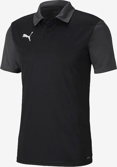 PUMA Sportshirt in dunkelgrau / schwarz / weiß, Produktansicht