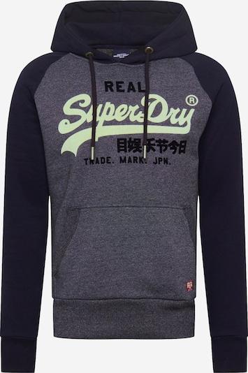 Superdry Sweat-shirt en bleu marine / bleu chiné / jaune clair, Vue avec produit