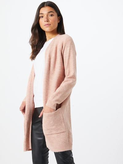 PIECES Strickjacke in rosa, Modelansicht