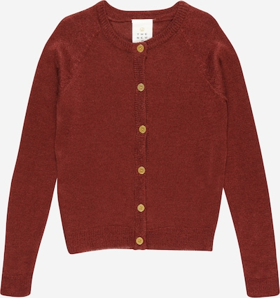 The New Cardigan en rouge sang, Vue avec produit