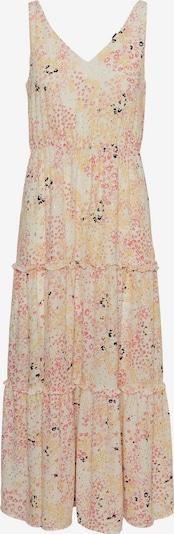 VERO MODA Robe d'été 'Hannah' en jaune / rose / noir / blanc cassé, Vue avec produit